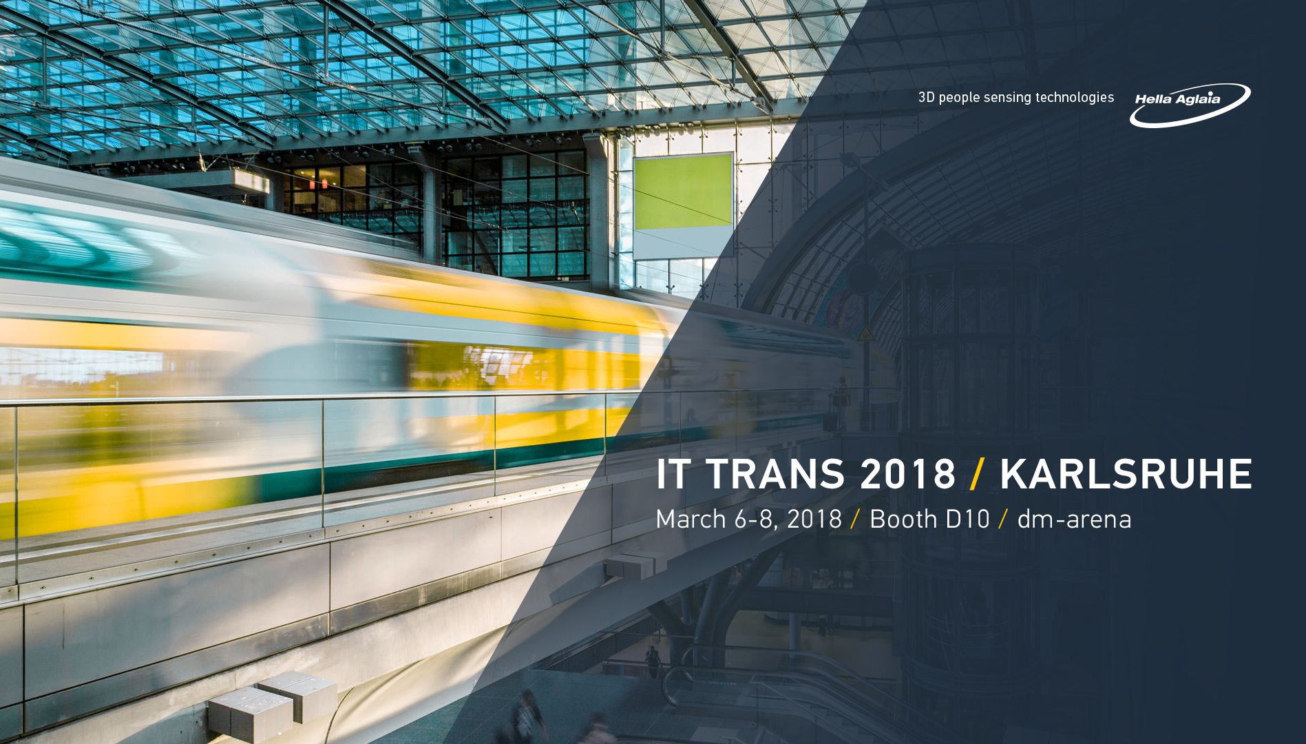 We'll showcasing our 3D passenger counting sensors at IT-Trans 2018.